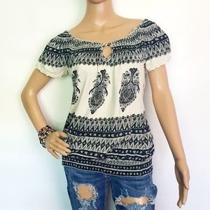 Lucky Brand Boho Off the Shoulder. Small